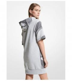 MICHAEL Michael Kors Organic Cotton Blend Hoodie Dress