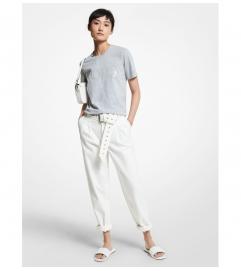 MICHAEL Michael Kors Stretch Denim Belted Jeans