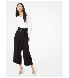MICHAEL Michael Kors Belted Pleated Culottes