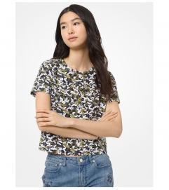 MICHAEL Michael Kors Butterfly Camo Cotton T-Shirt