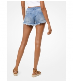 MICHAEL Michael Kors Frayed Denim Shorts