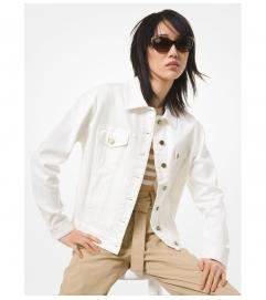 MICHAEL Michael Kors Denim Shrunken Boyfriend Jacket