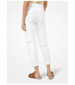 MICHAEL Michael Kors Stretch Cotton Poplin Cargo Pants