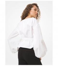 MICHAEL Michael Kors Cotton Poplin Wrap Top