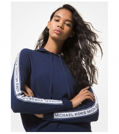 MICHAEL Michael Kors Logo Tape Stretch Viscose Hoodie