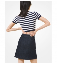 MICHAEL Michael Kors High-Rise Denim Skirt