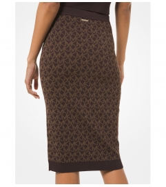 MICHAEL Michael Kors Logo Jacquard Pencil Skirt