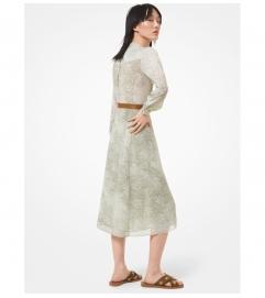 MICHAEL Michael Kors Paisley Georgette Shirtdress