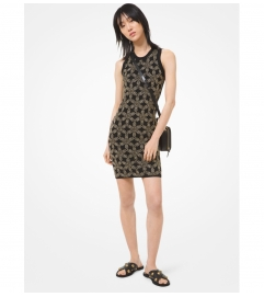 MICHAEL Michael Kors Floral Embellished Stretch Viscose Dress