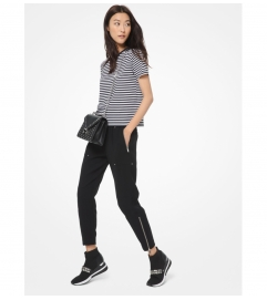 MICHAEL Michael Kors Striped Cotton-Jersey T-Shirt