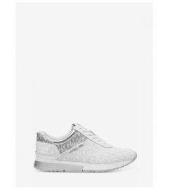 MICHAEL Michael Kors Allie Leather and Logo Sneaker
