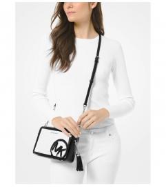MICHAEL Michael Kors Ginny Medium Brushstroke Logo Crossbody Bag