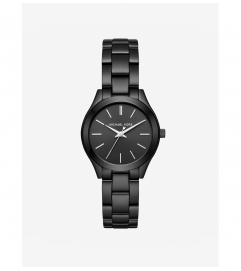 Michael Kors Mini Slim Runway Black-Tone Watch