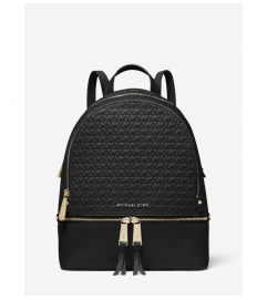 MICHAEL Michael Kors Rhea Medium Debossed Logo Leather Backpack
